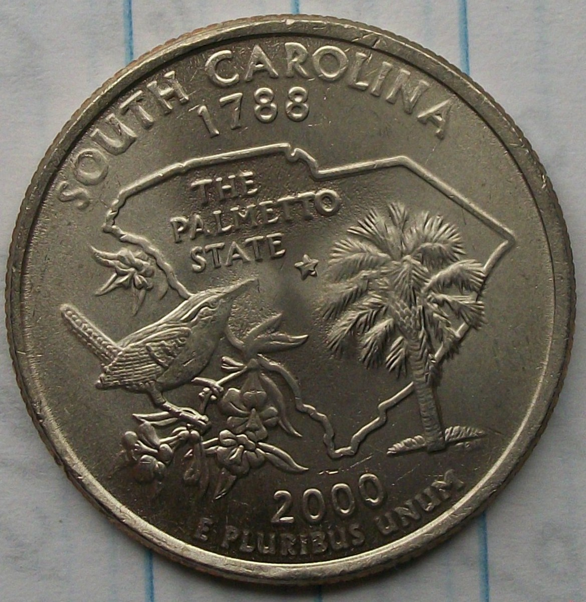 2008P South Carolina Statehood Quarter Doubled die reverse.