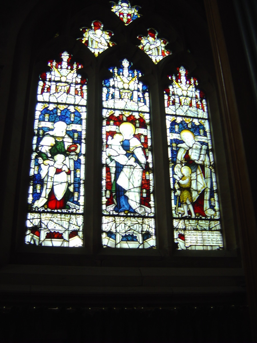 Window in All Saints Church commemorating Mary Craven