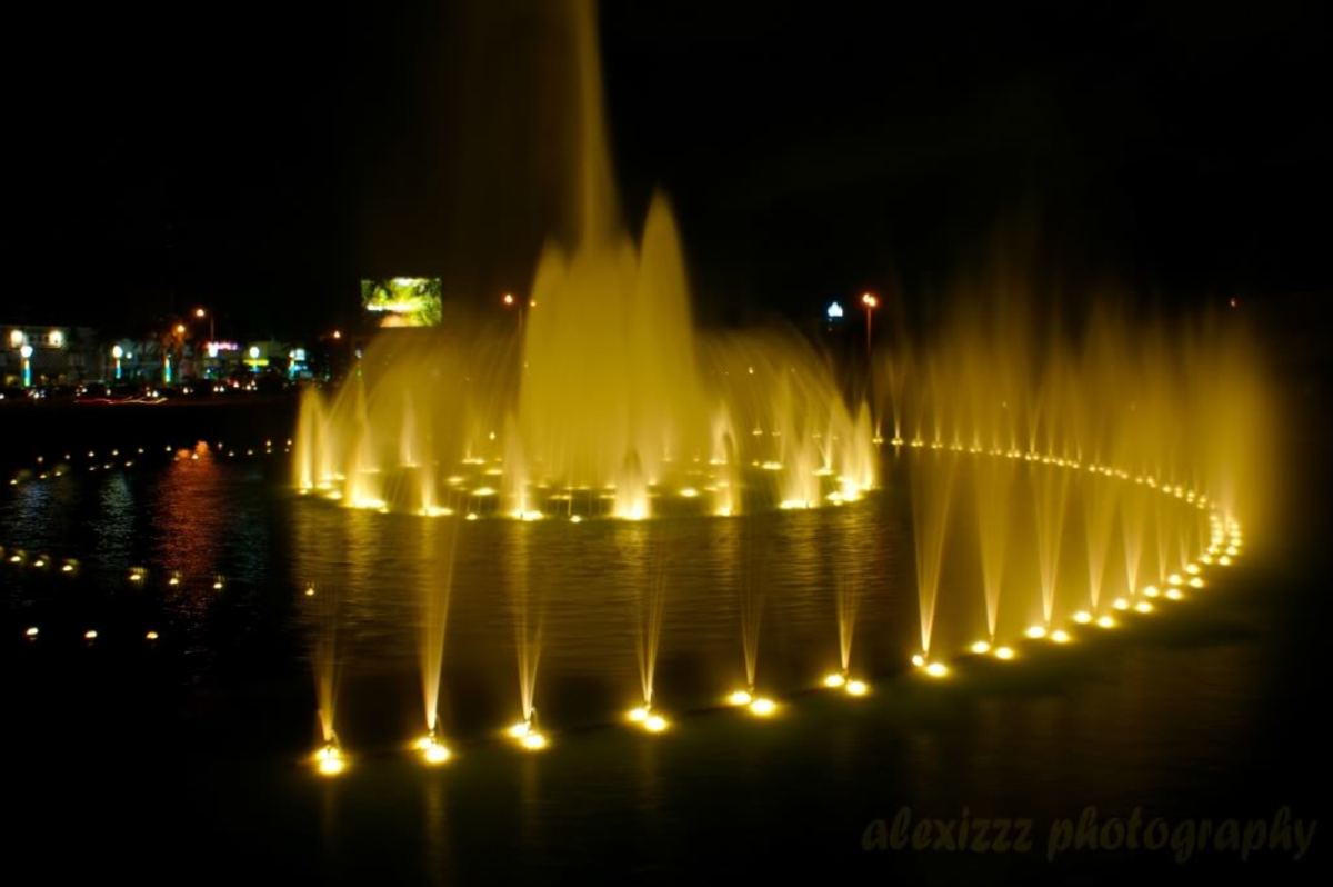 Lighted Water Fountain in Luneta Park