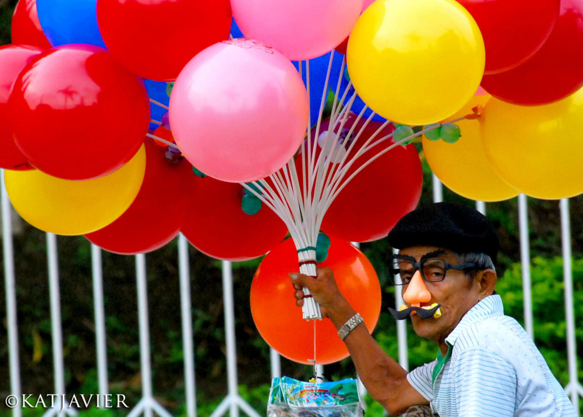 Colorful Balloon Vendor