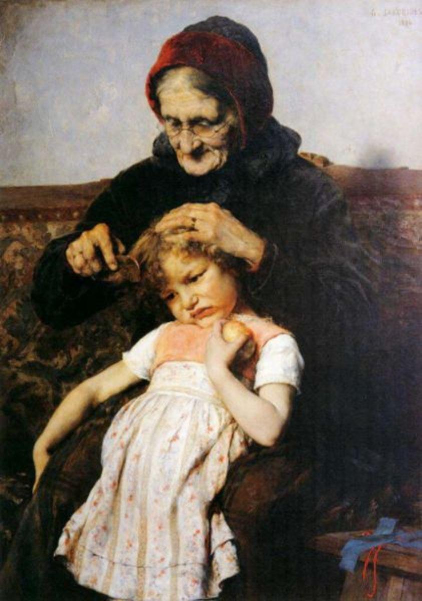 Memories of Granny's Combing Her Hair