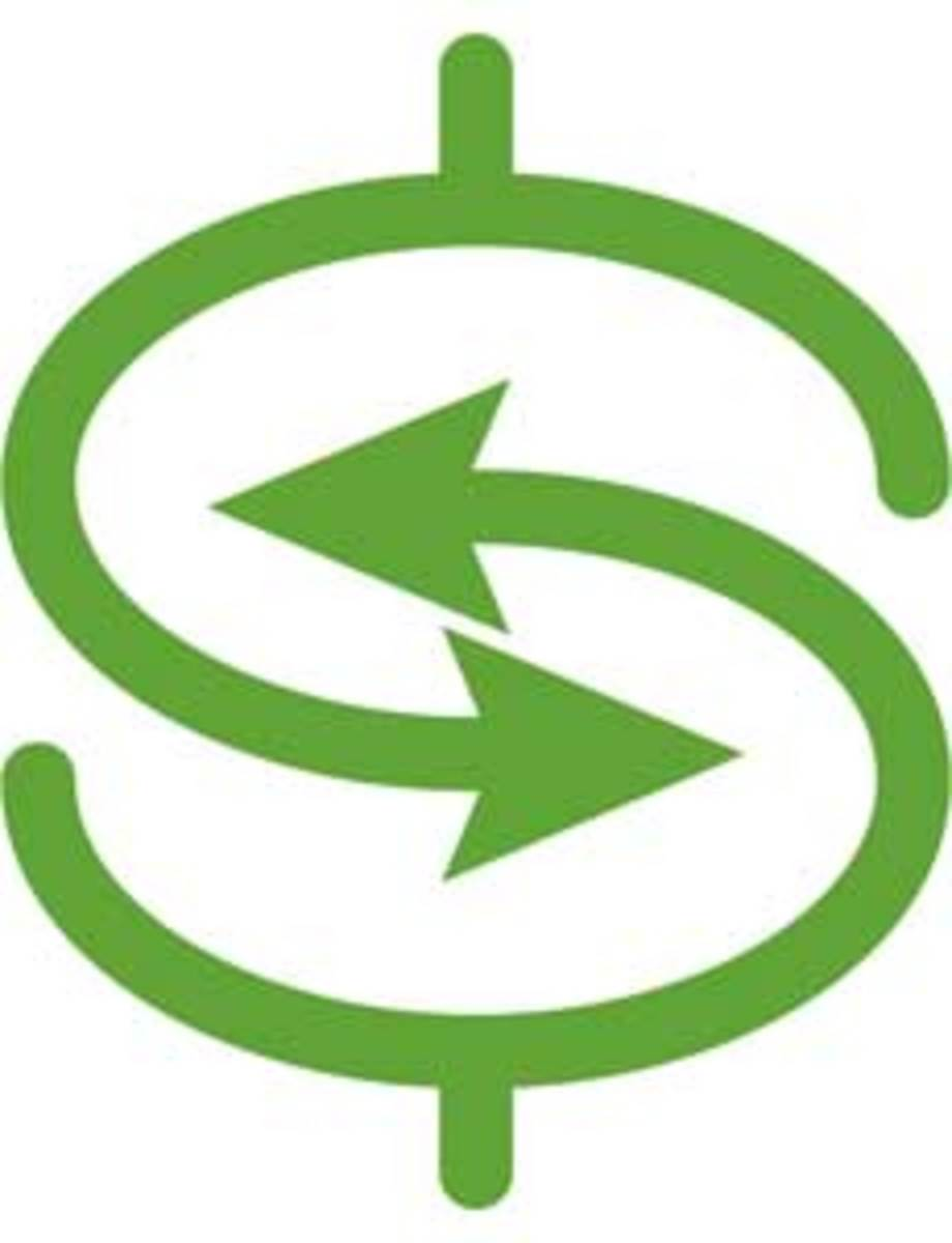 eco-friendly dollar sign showcasing the return is reciprocal