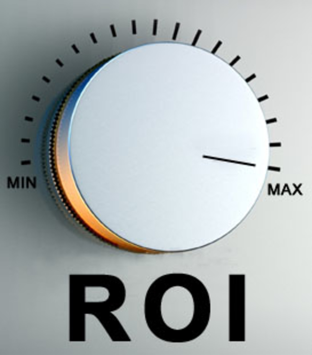 visual of silver colored ROI knob with min and max