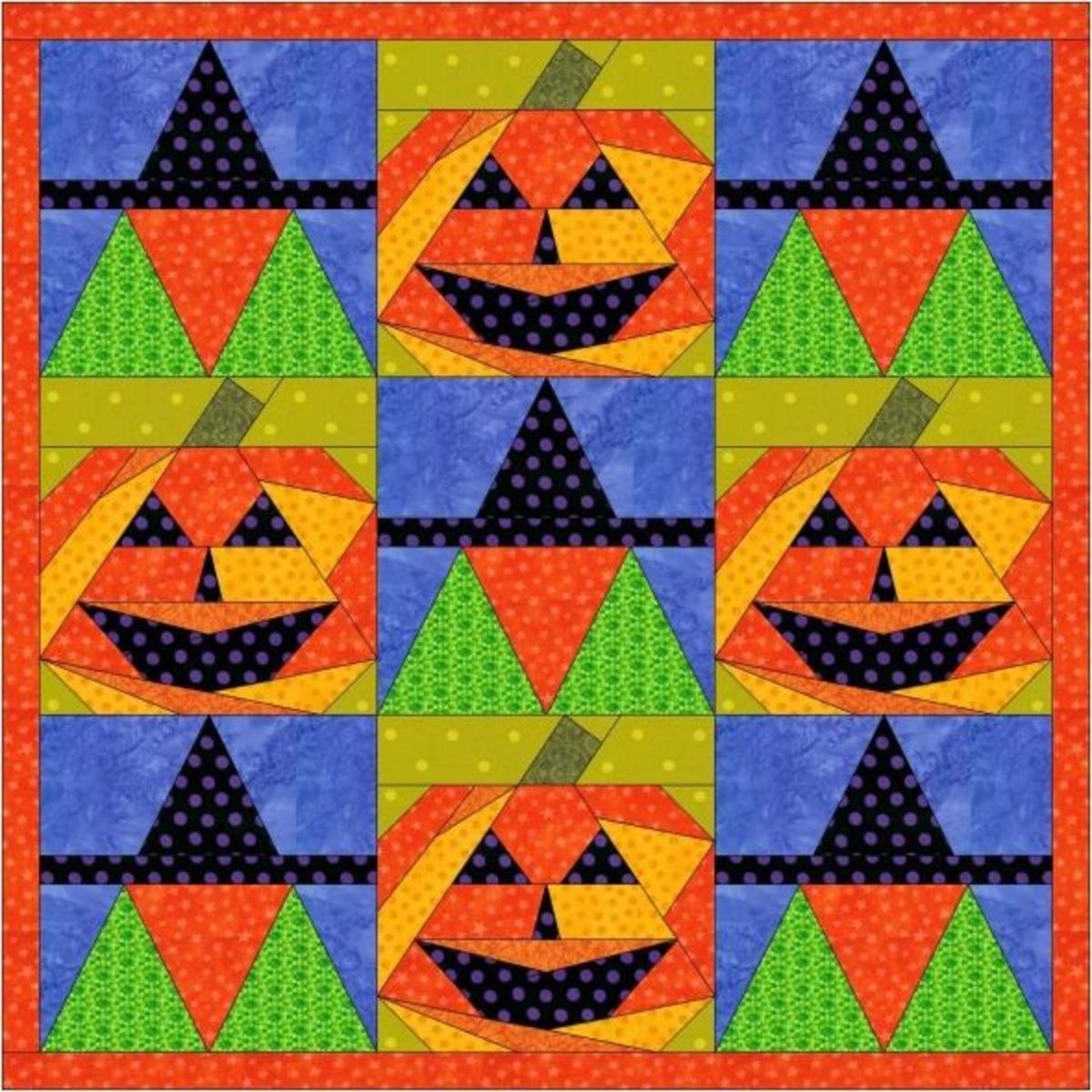 Jacks and Witches quilt