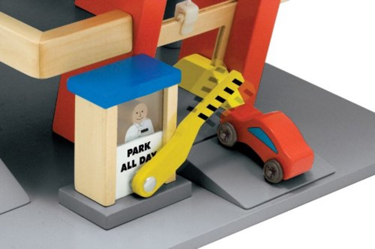 Melissa and Doug Parking Garage Toll Booth with Barrier