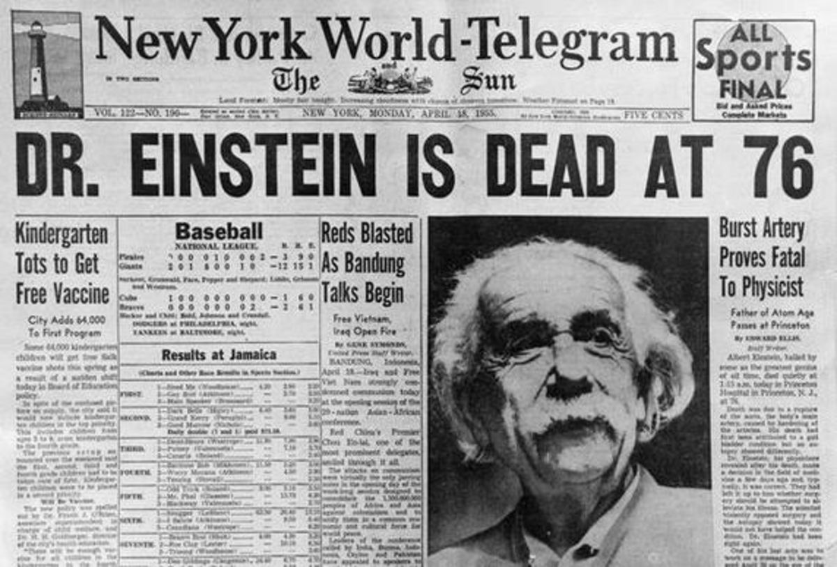 Einstein died in Princeton Hospital early the next morning at the age of 76.