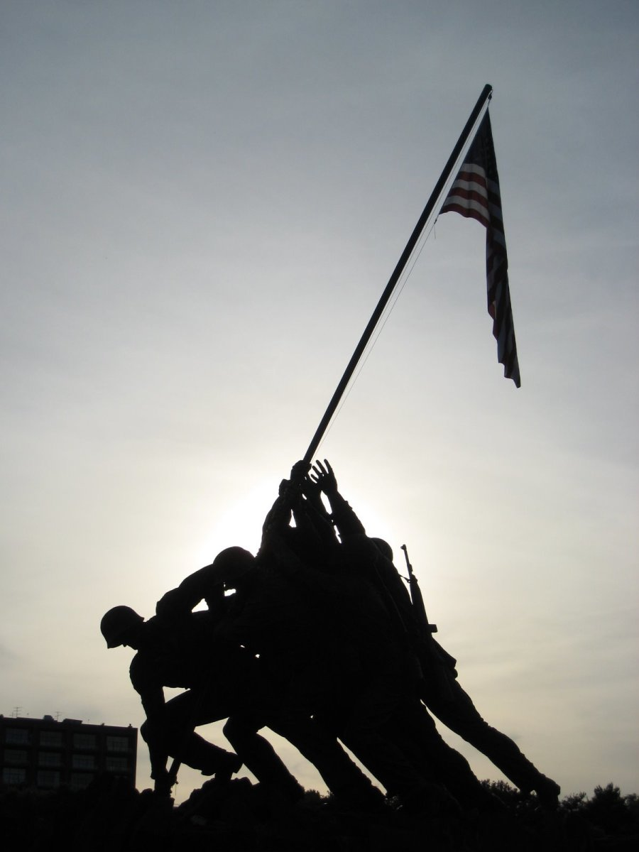 The Iwo Jima Memorial is a reminder that America stands for freedom. Today, America's identity is threatened as misguided voices tell us that America stands for entitlement, the killing of the defenseless, and peace at any price.