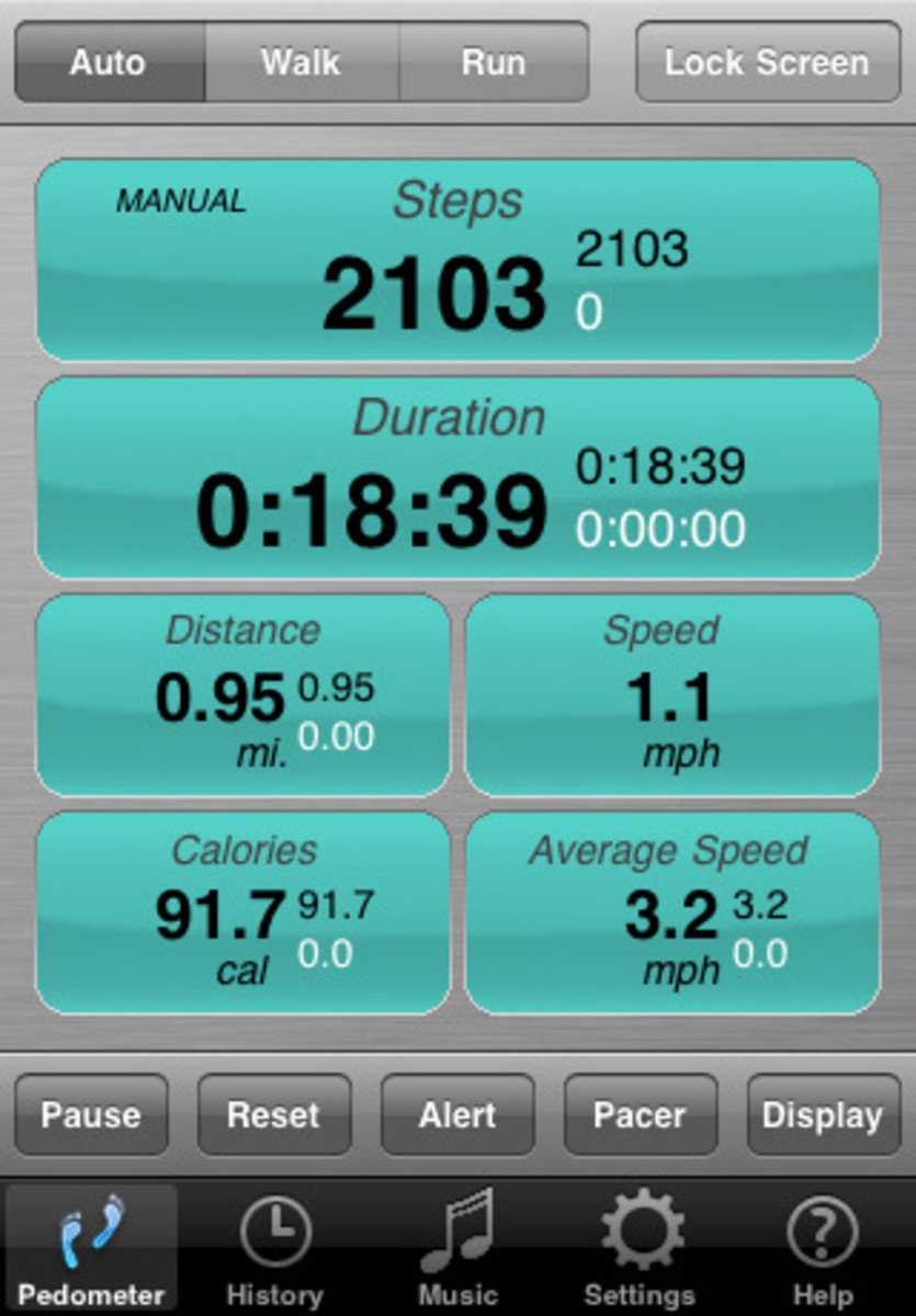 Footsteps Pedometer App for iPhone and iPod Touch