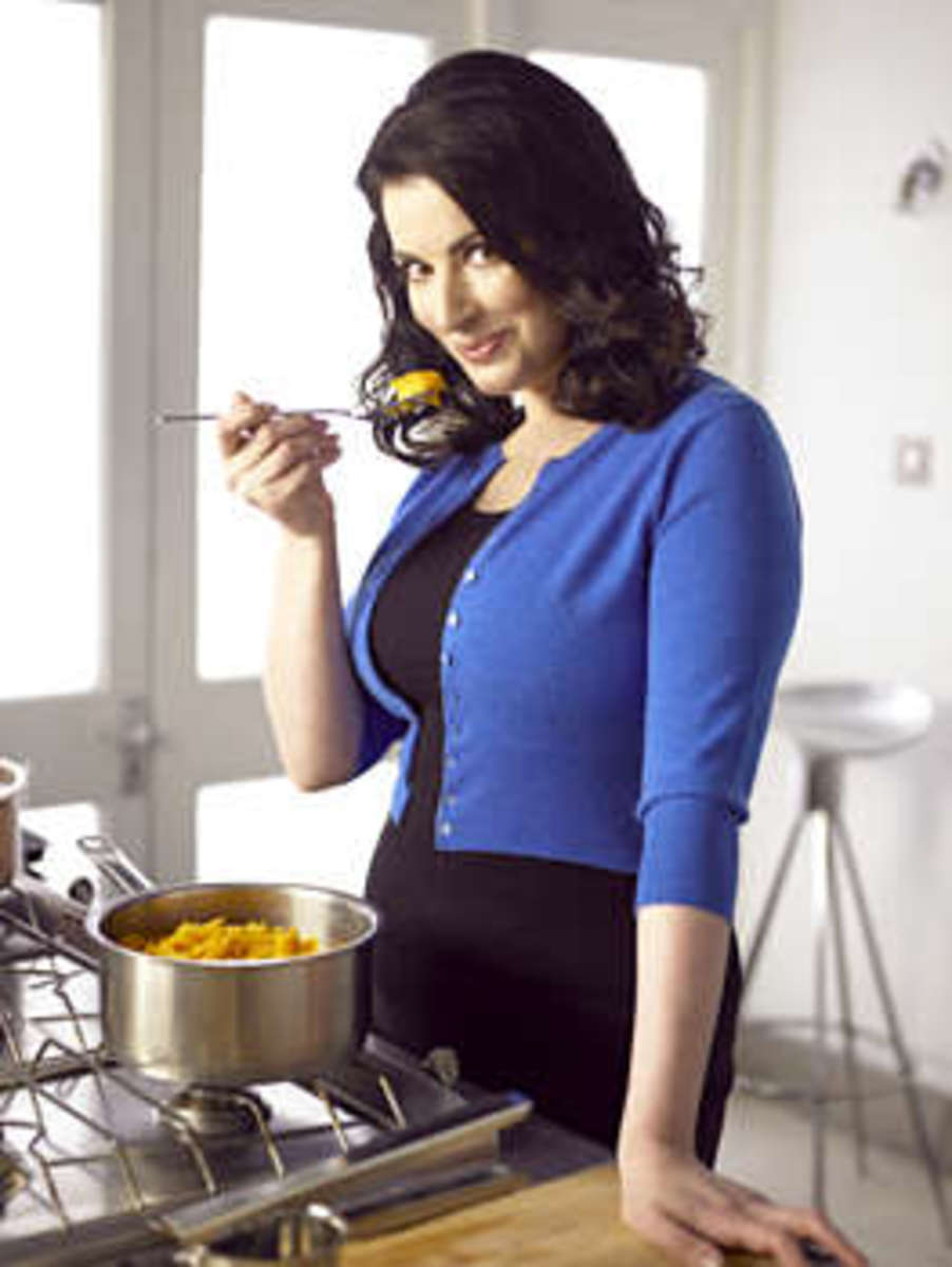 Nigella Lawson (not taking dieting too seriously!)