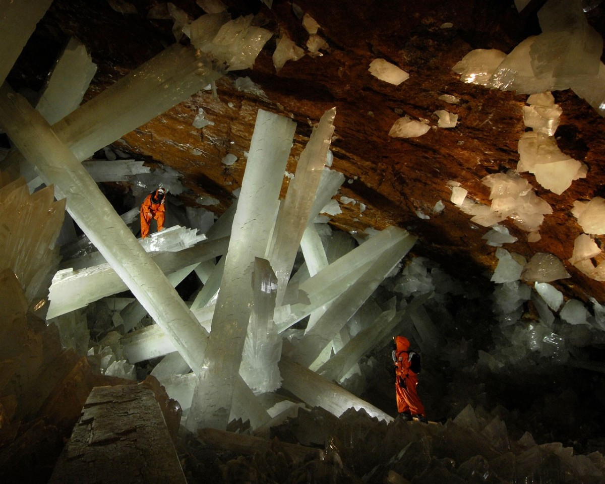 The large crystals in Crystal Cave