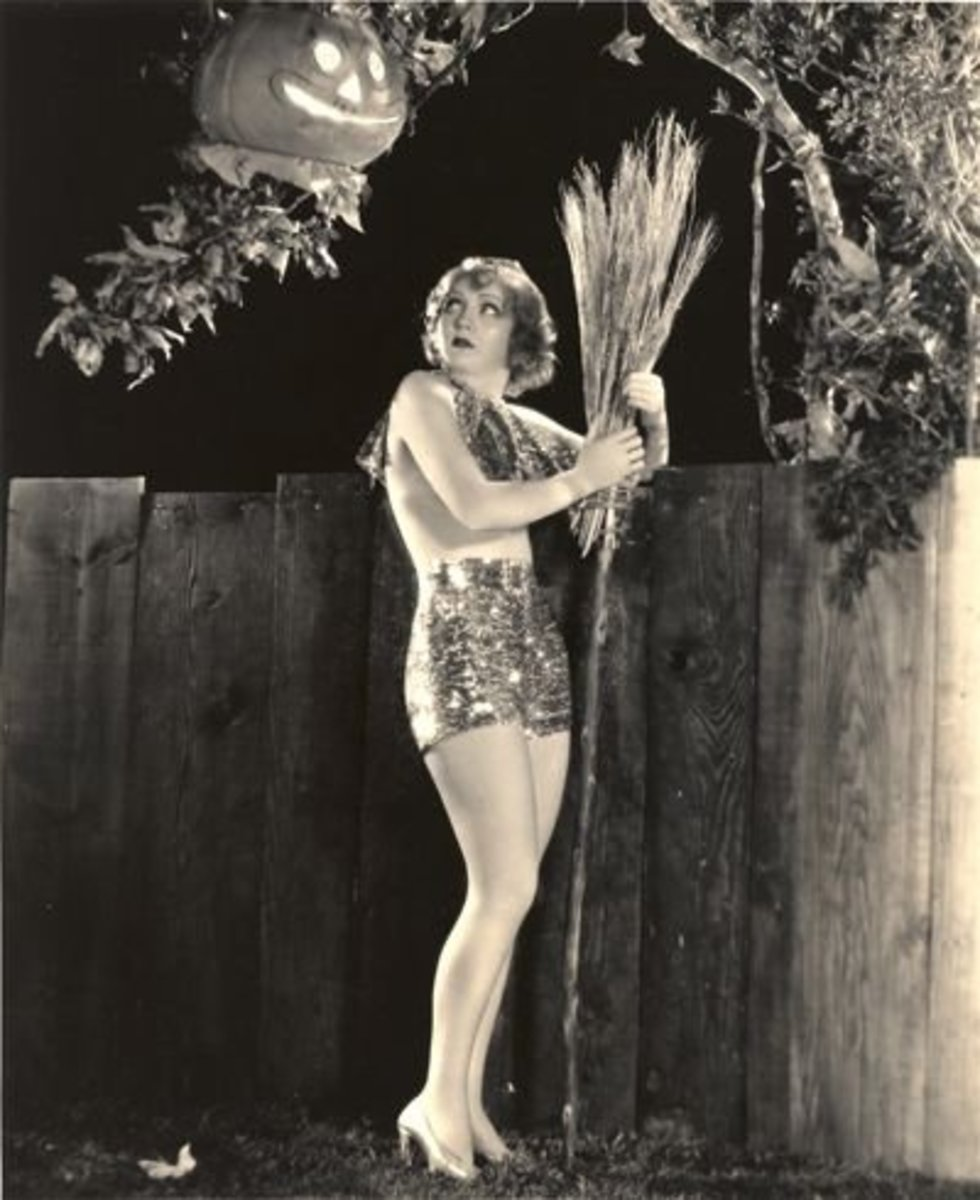 Nancy Carroll, a glittery witch with an awesome broom.