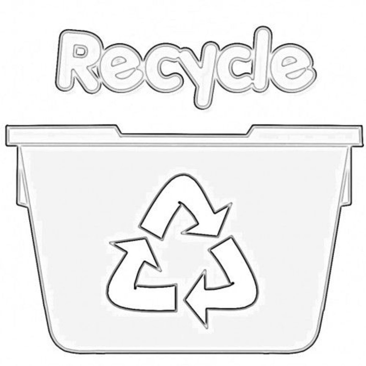 Worksheets Recycling For Kids Worksheets recycling worksheets for kids hubpages recycle bin coloring page