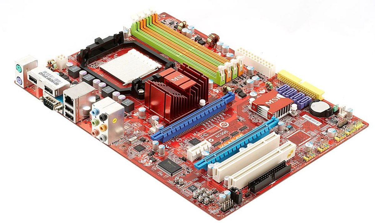 MSI K9A2 motherboard.