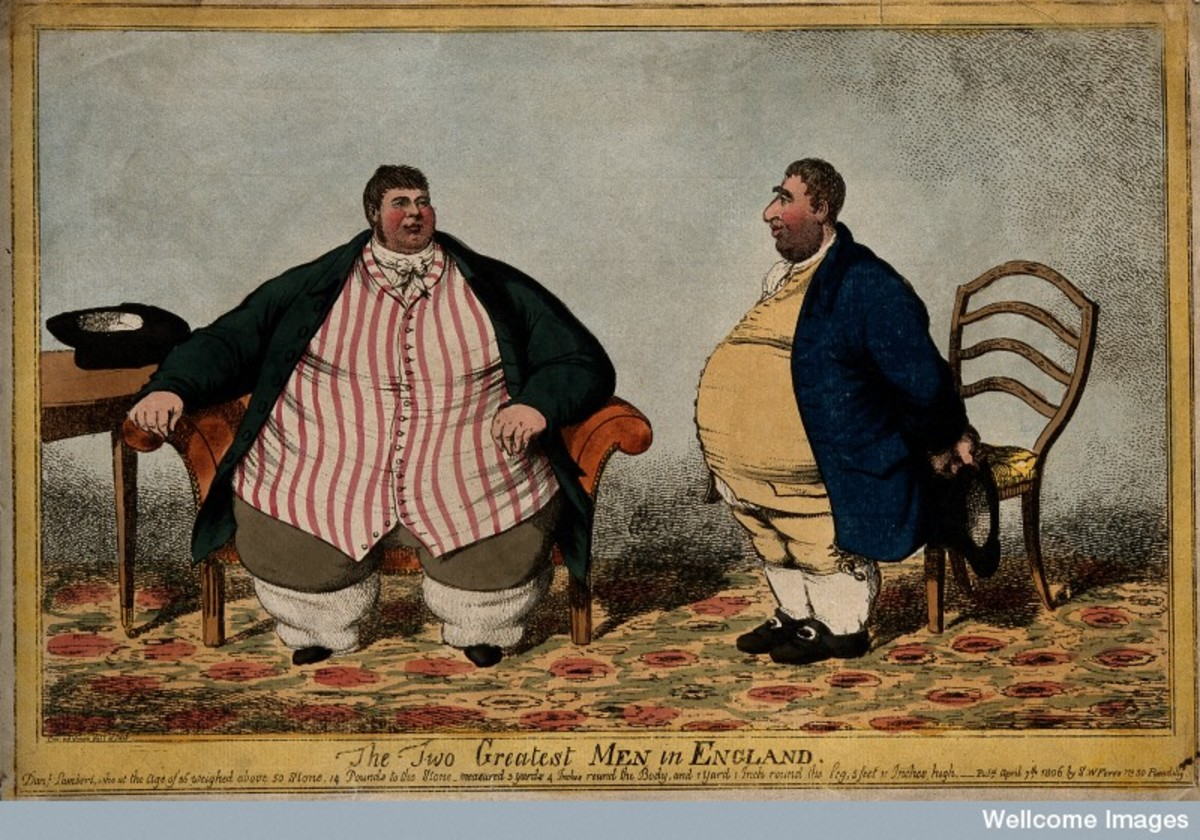 The two largest men in England