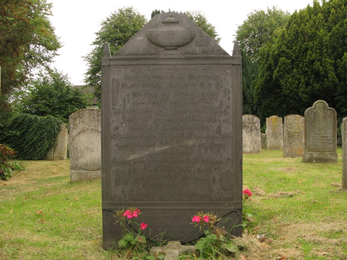 Daniel Lambert's gravestone