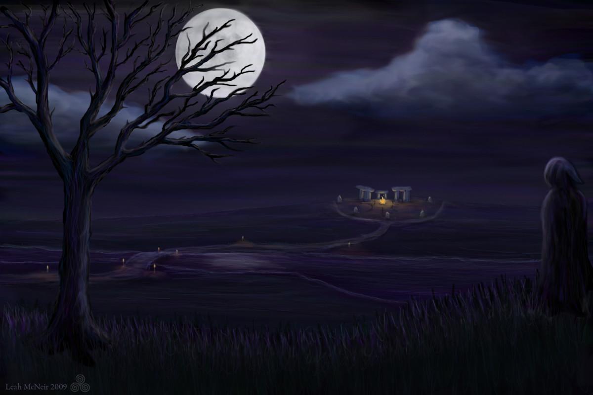 """"""" A song for Samhain"""" by artist Leah McLeir"""