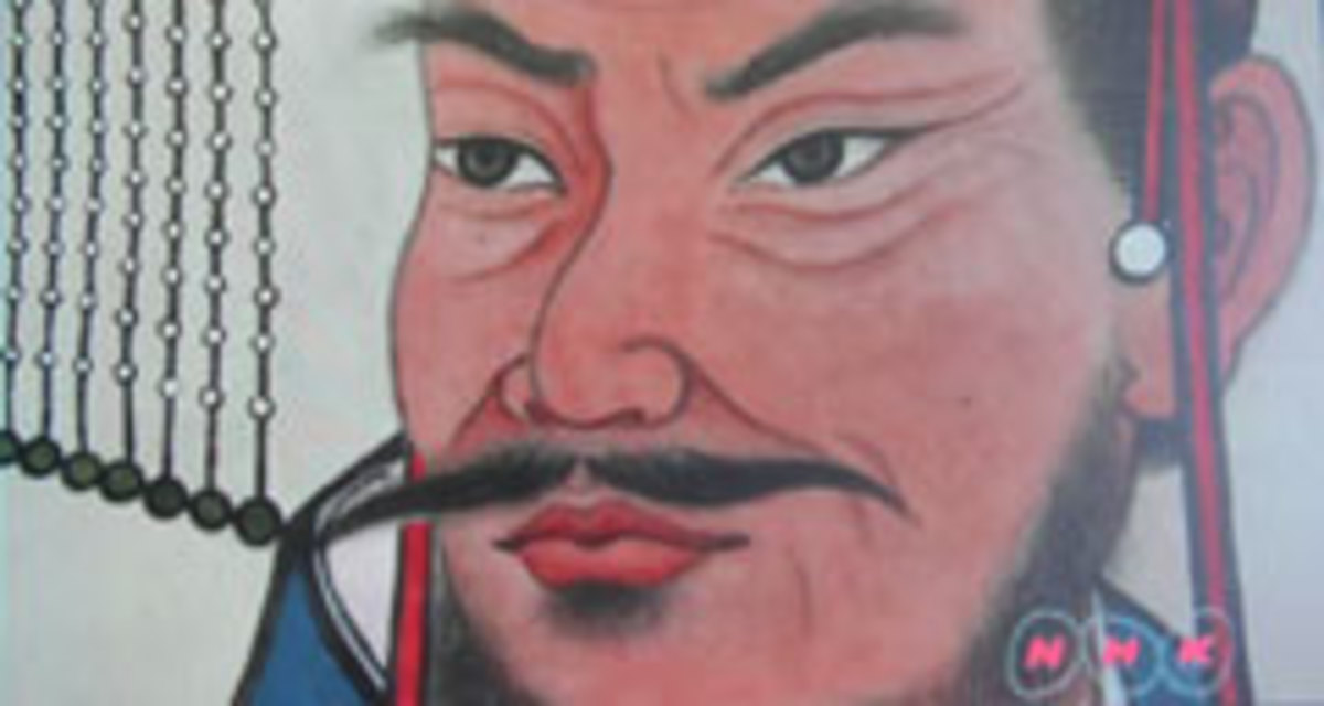 Qin Shi Huang Di Painting, from NHK Series Video