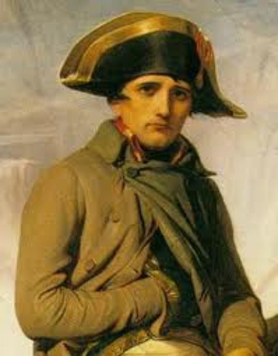 Napoleon in one of his many paintings depicting him with hand inserted into vestment. This signaled to other Satanists that he was part of their team. Other secret society men would then enable such identified men as best they could.