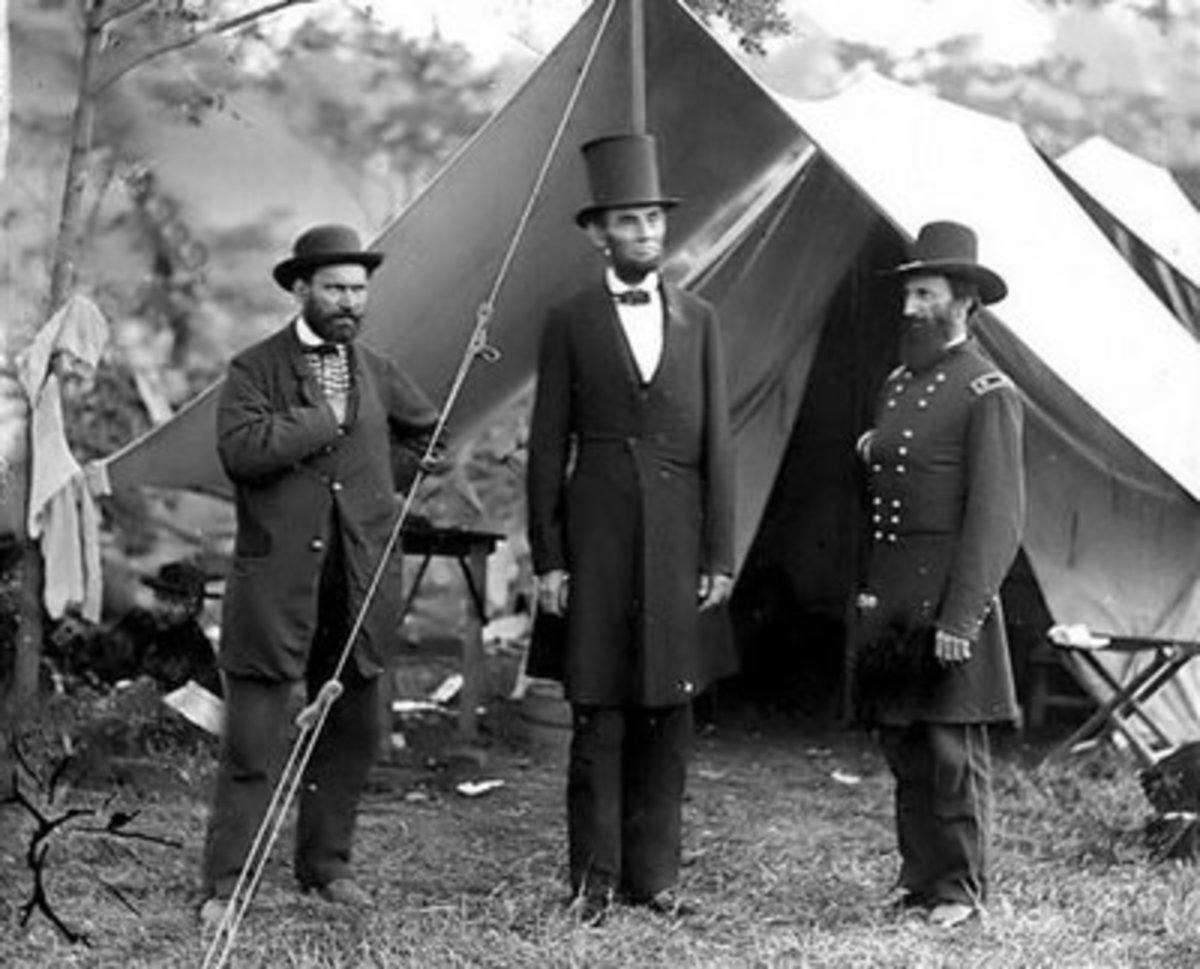 Lincoln was not a member to the secret agenda. This photo says two things to those initiated into secret rites. First, the two generals are with them. Second, Lincoln isn't.
