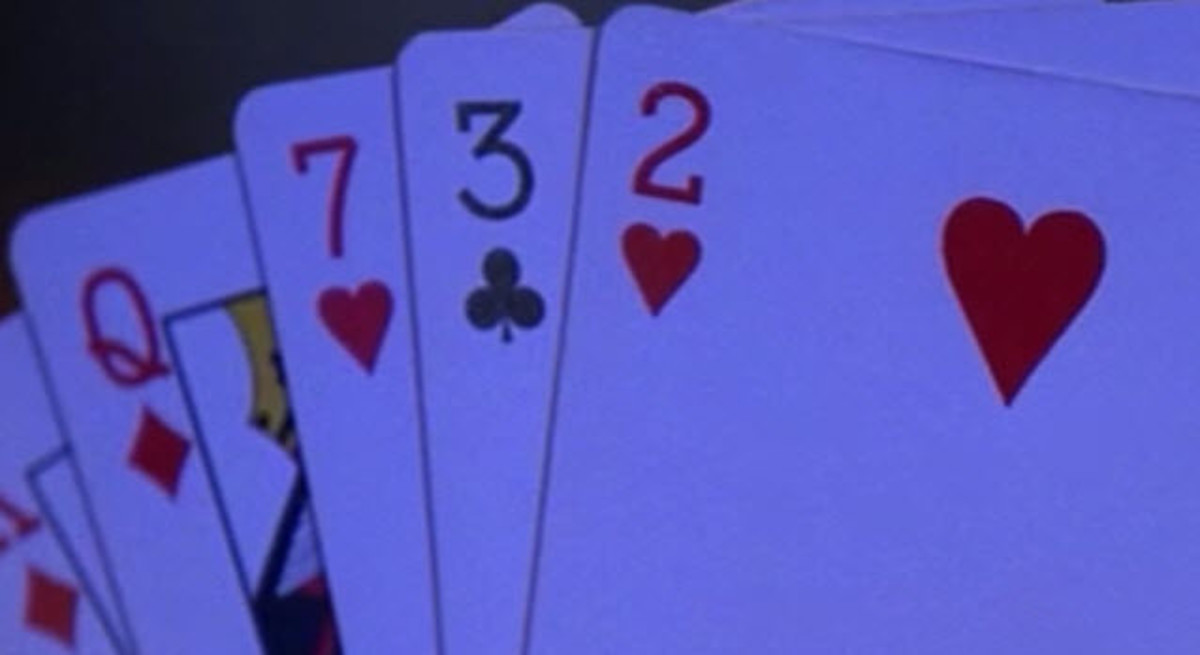 Ando's hand depends on the special powers of Hiro Nakamura to freeze time and trade card hands with another player.