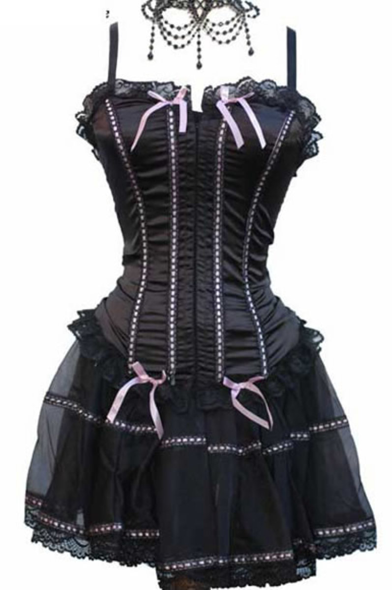 Wonderful corset dress for the full figured woman.