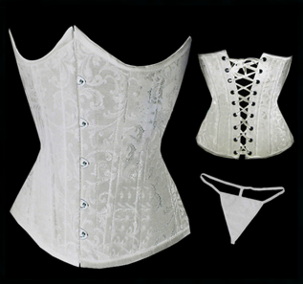 Sexy White Underbust Lace Up Corset