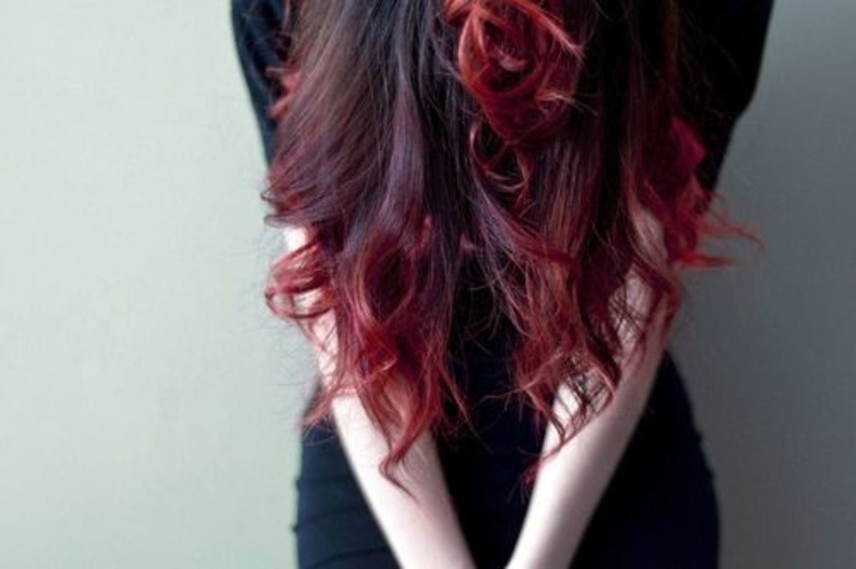 A red ombre.