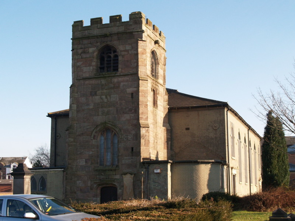 St Johns church in Burslem, Stoke-on-trent. Where Molly Leigh's tomb is situated