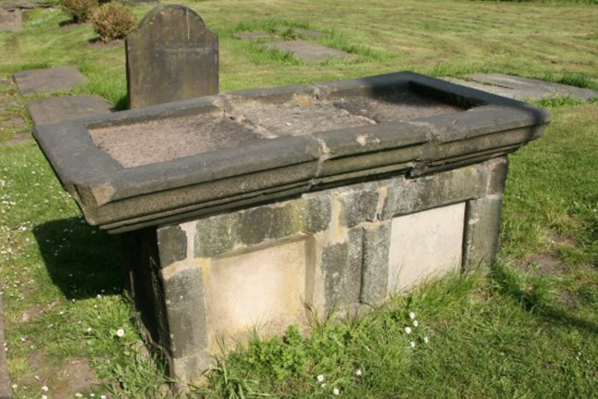 The tomb of Margaret Leigh today
