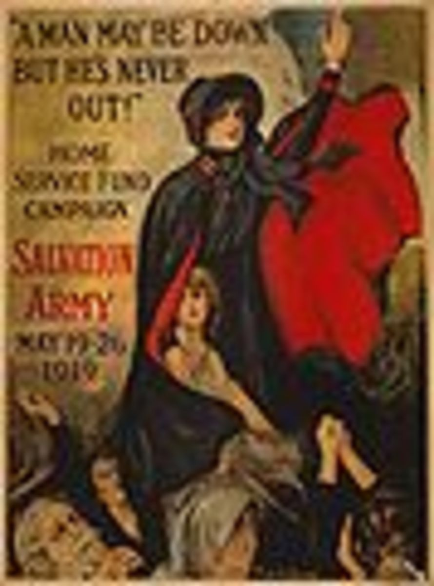 Salvation Army World War I poster. piublic domain