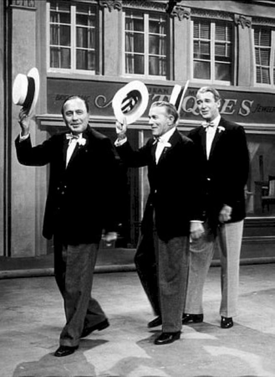 Jack Benny, George Burns, Jimmy Steward