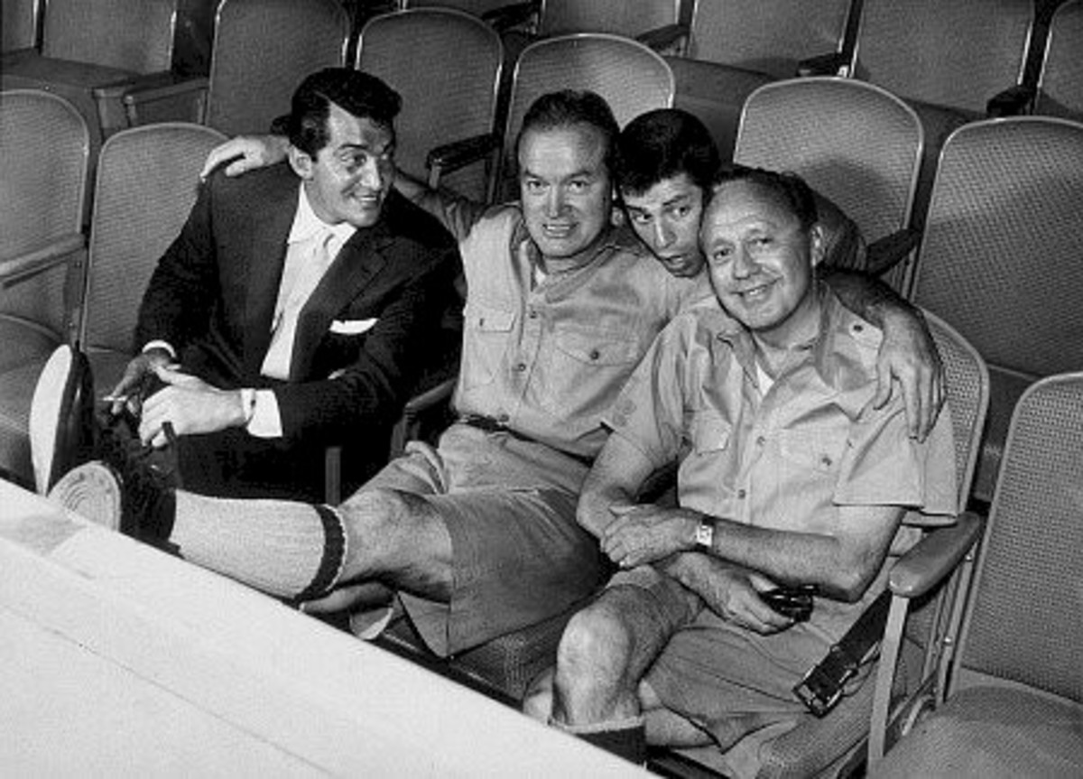 Dean Martin, Bob Hope, Jerry Lewis, Jack Benny