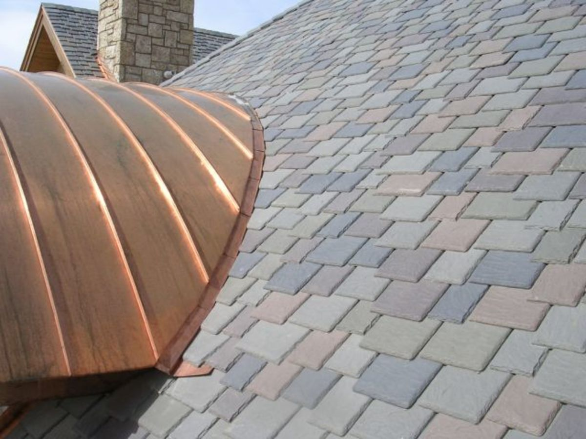 Home improvement faux slate shingles roofs hubpages for Davinci synthetic slate price