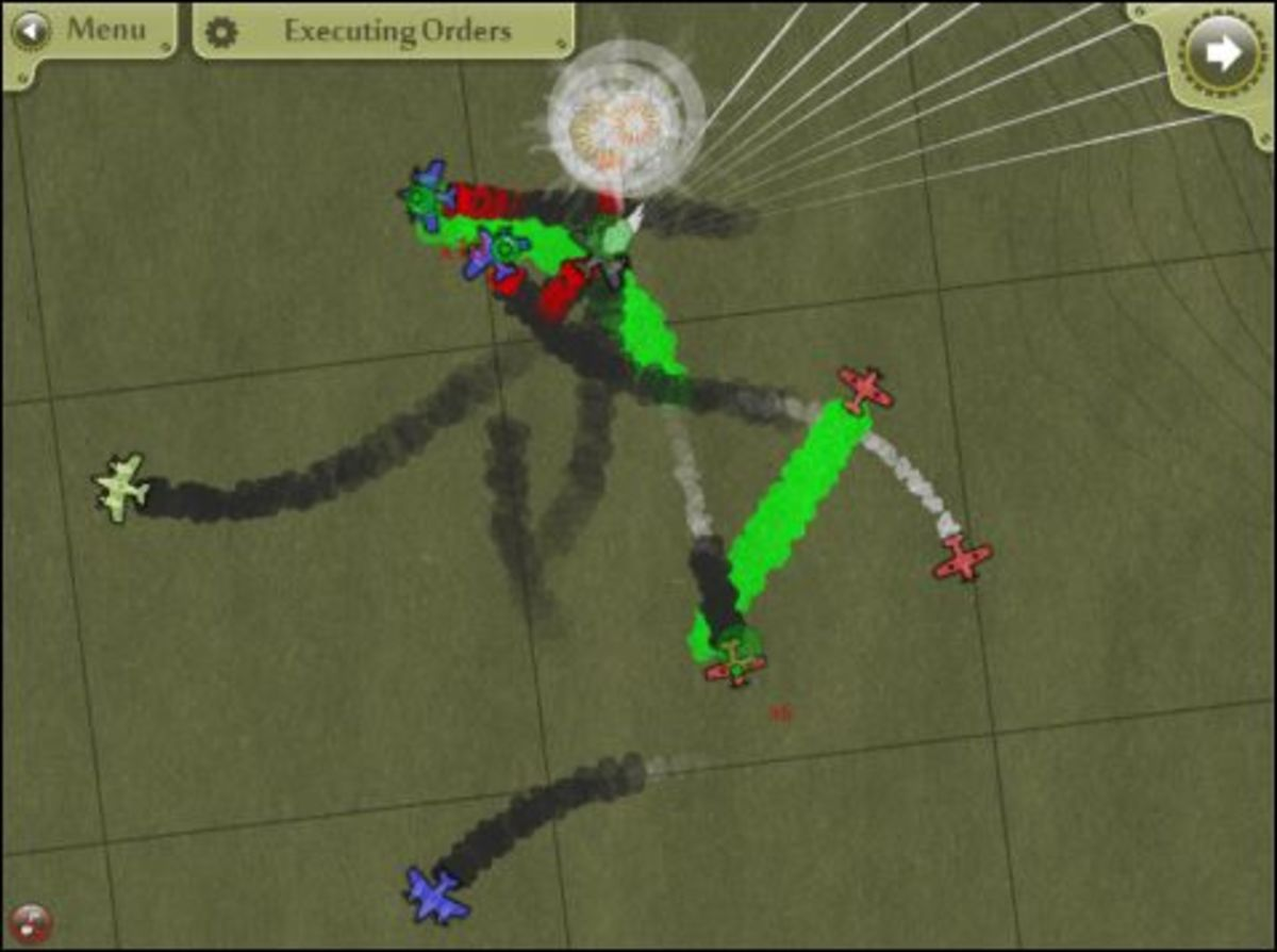 Steambirds gameplay, multi-plane dogfight