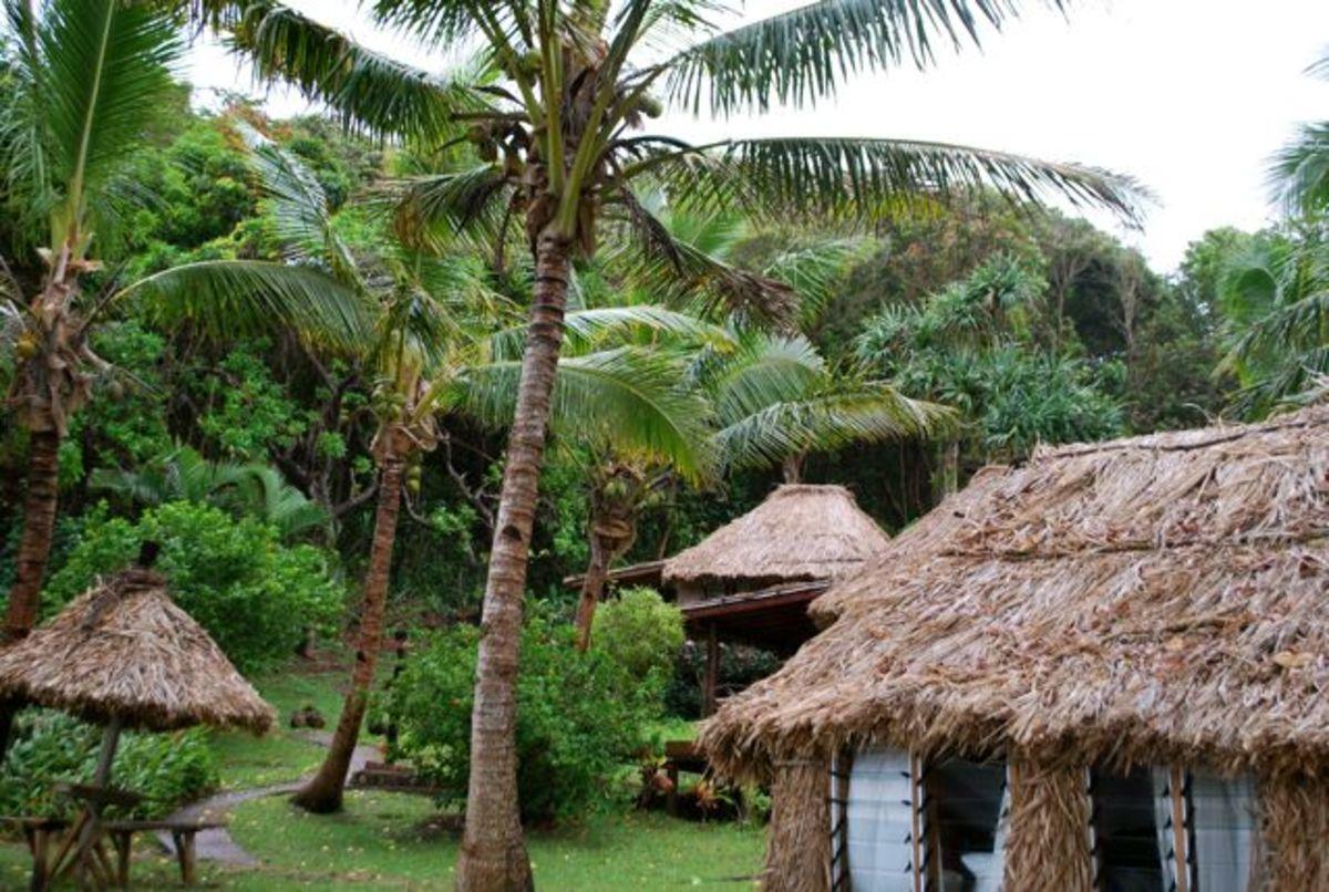 The grounds at Matava Resort on Kadavu, Fiji