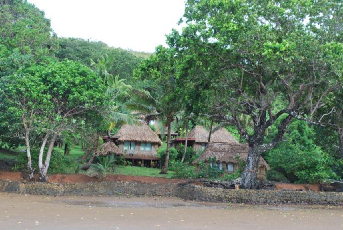 Matava Fiji's Premier Eco Resort from the beach