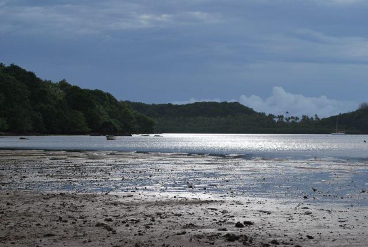 Day dawns on the bay near Matava, Fiji