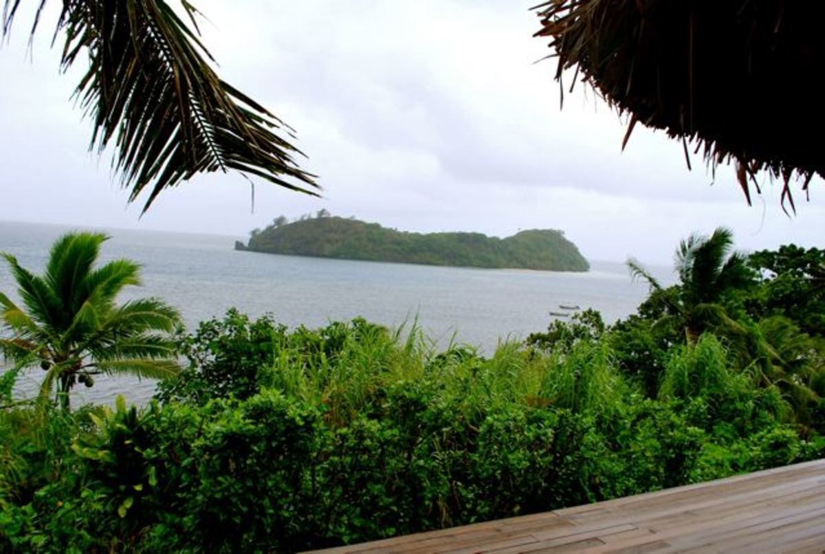 View from my room at Matava, Fiji
