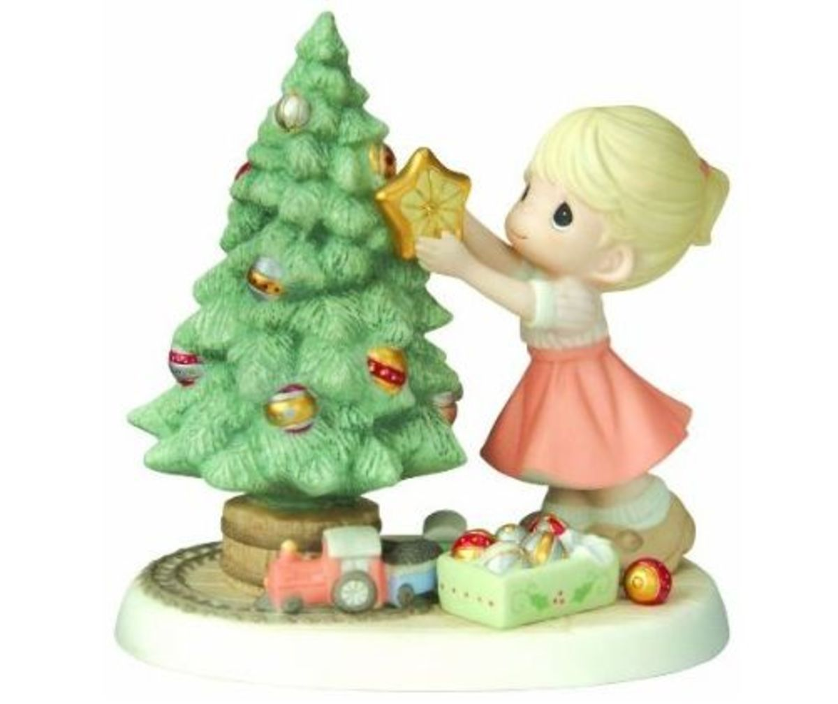 "Precious Moments Christmas Figurine ""You Brighten My Christmas"""