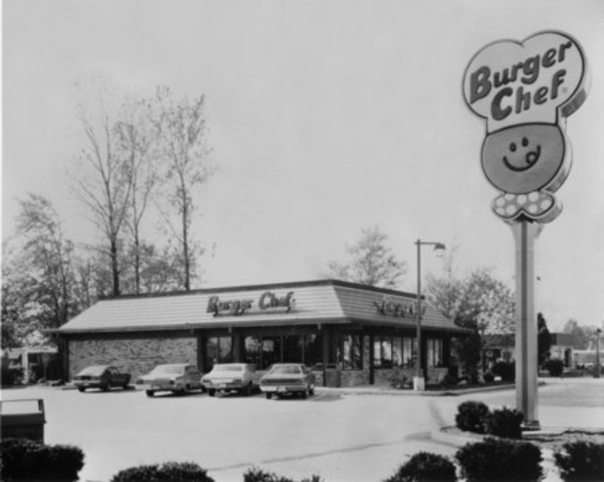 Burger Chef restaurant in 1978