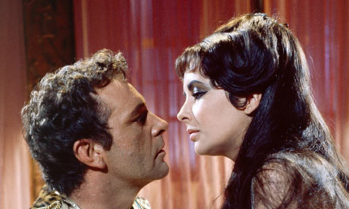 Richard Burton and Elizabeth Taylor  as Mark Antony and Cleopatra