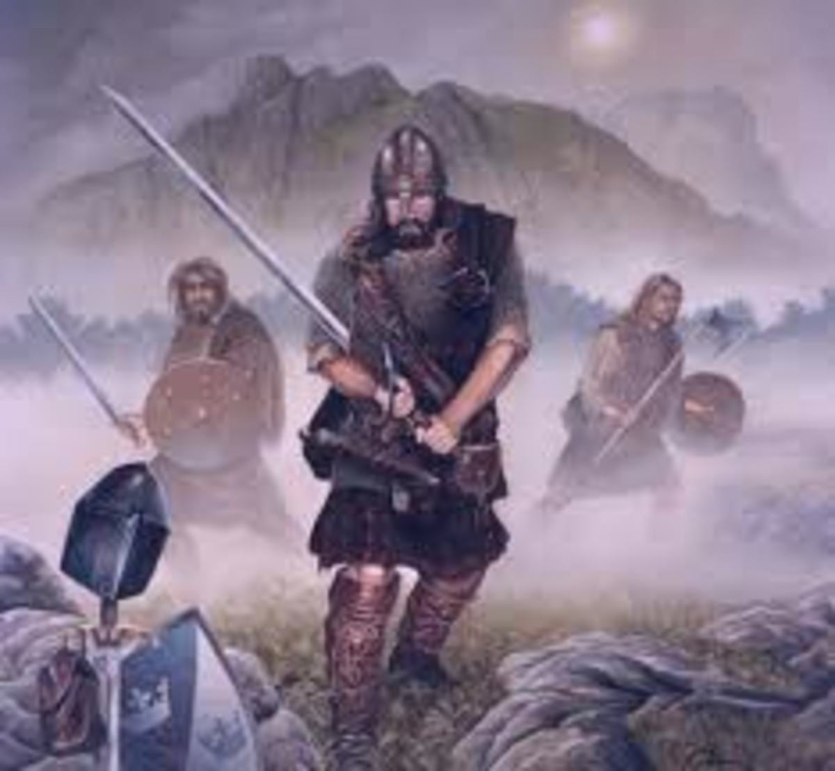 Depiction of William Wallace at Stirling Bridge