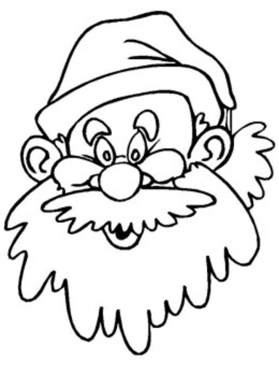 Santa Claus Coloring Pages Free Colouring Pictures to Print - Caricature