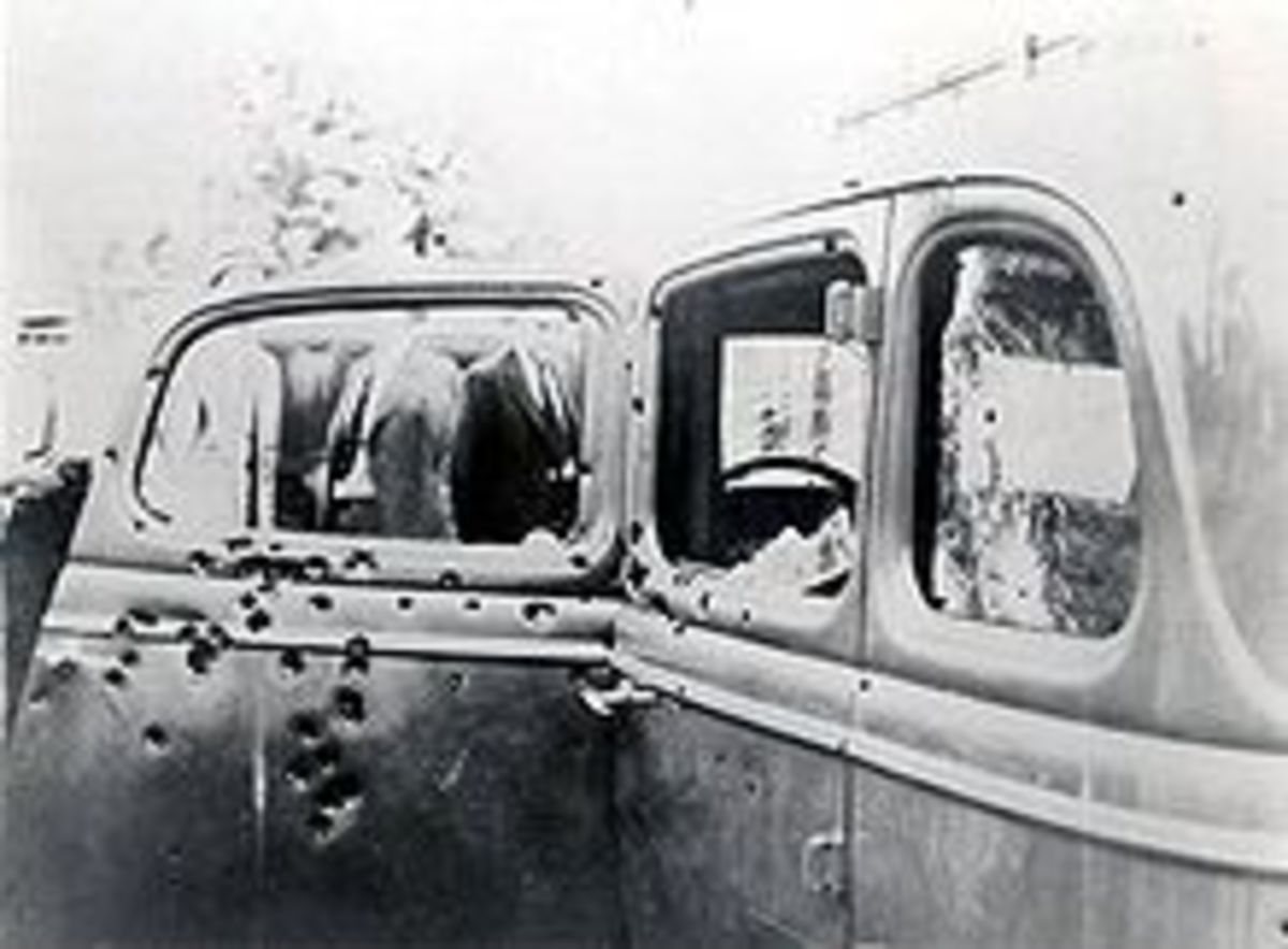 Death car with more than 50 bullet holes
