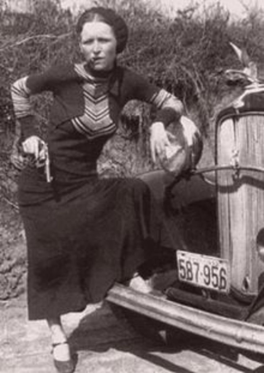 Bonnie with cigar 1933 -  just for fun