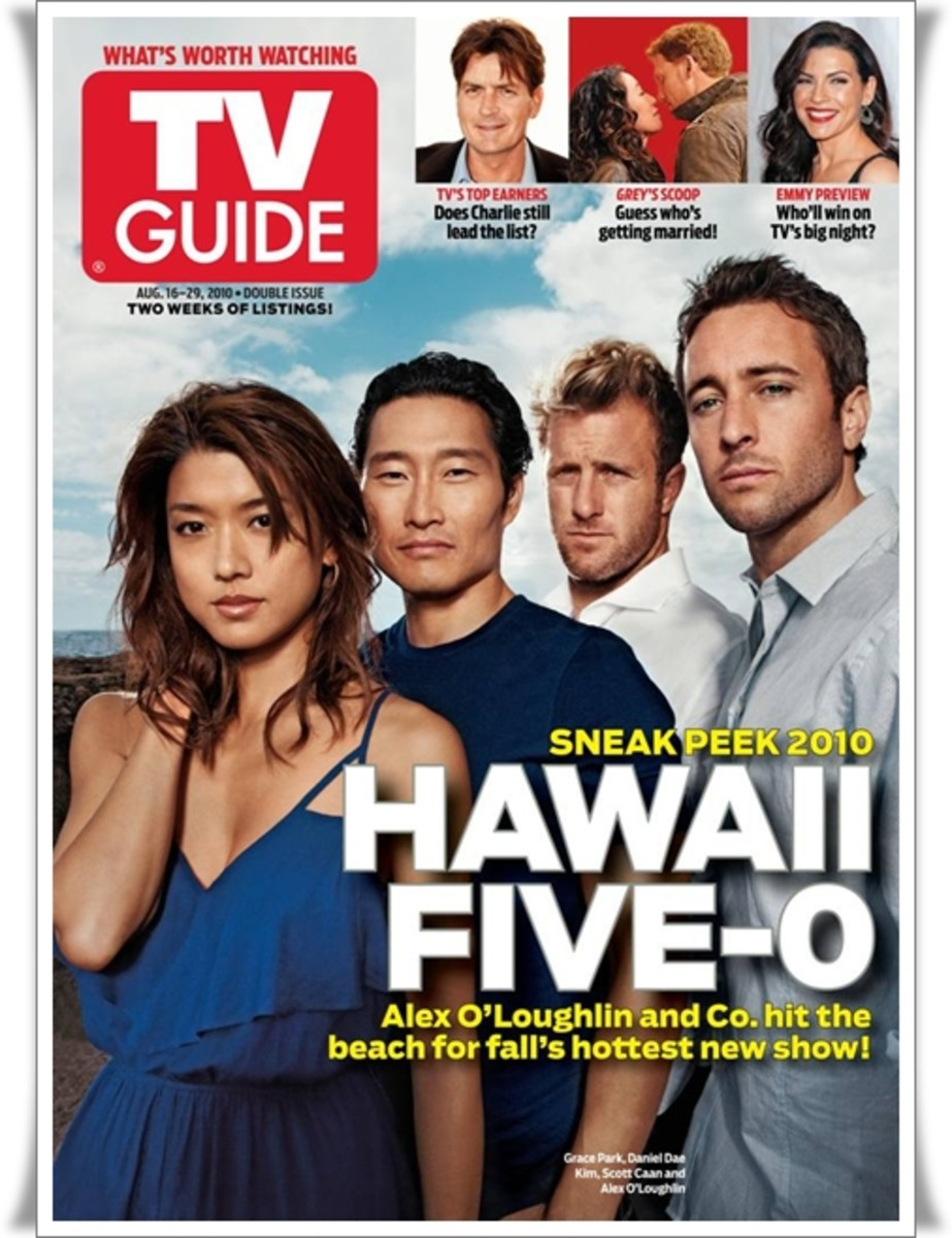 Hawaii Five-0 gracing the cover of Aug. 2010 TV Guide