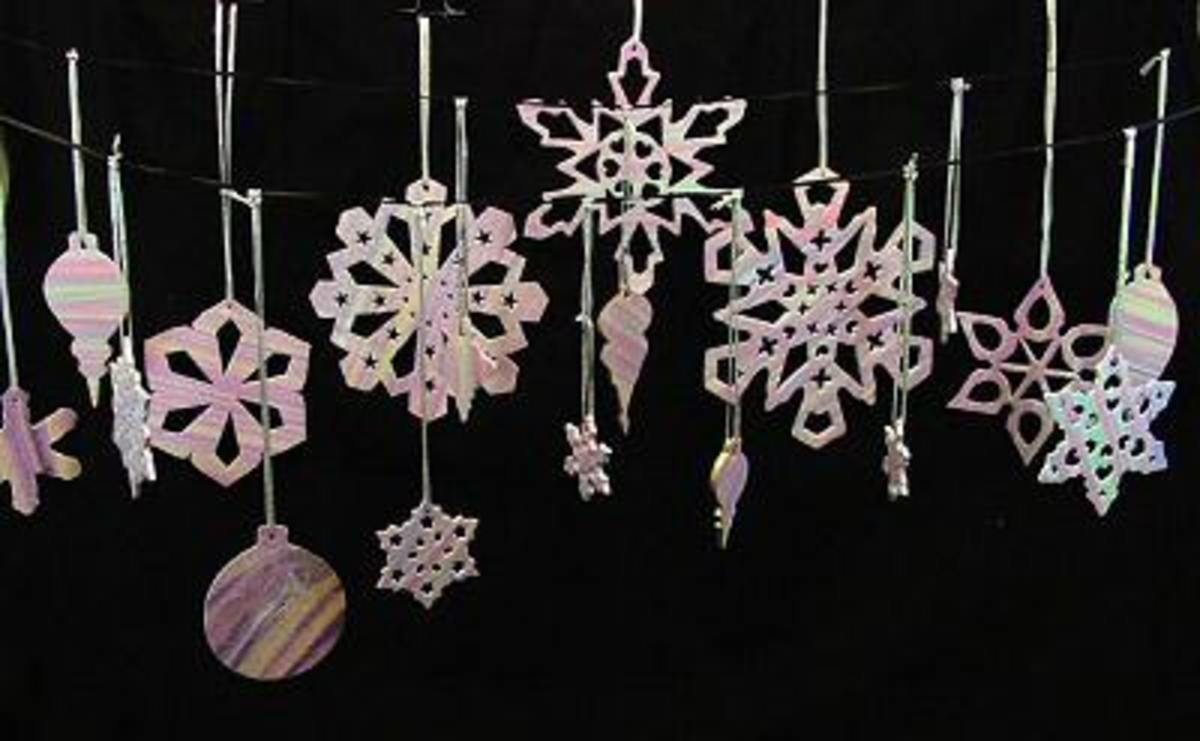 polymer clay snowflakes