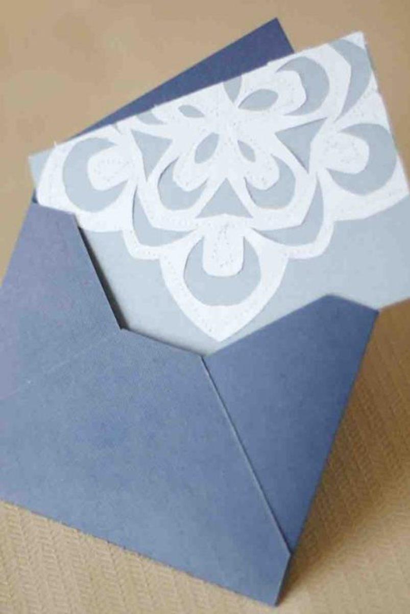easy handmade snowflake card