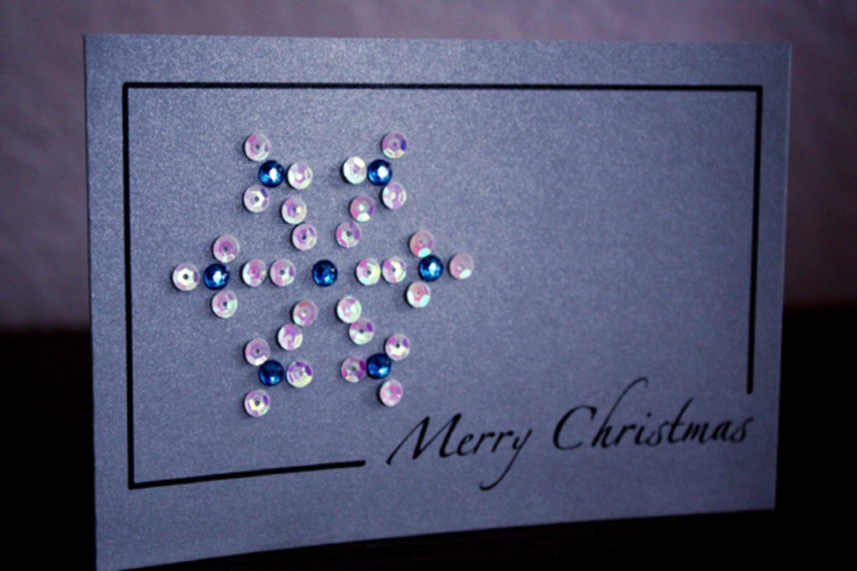 sequined snowflake pattern