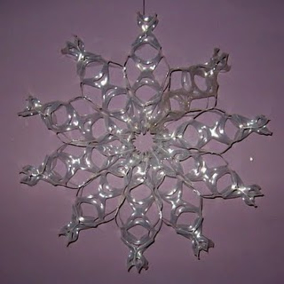 recycled plastic ring snowflake